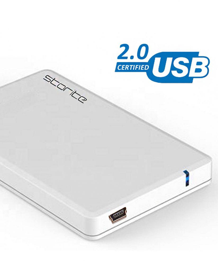 3.0-USB-Portable-Hard-Drive-–-White-200GB Space 200GB