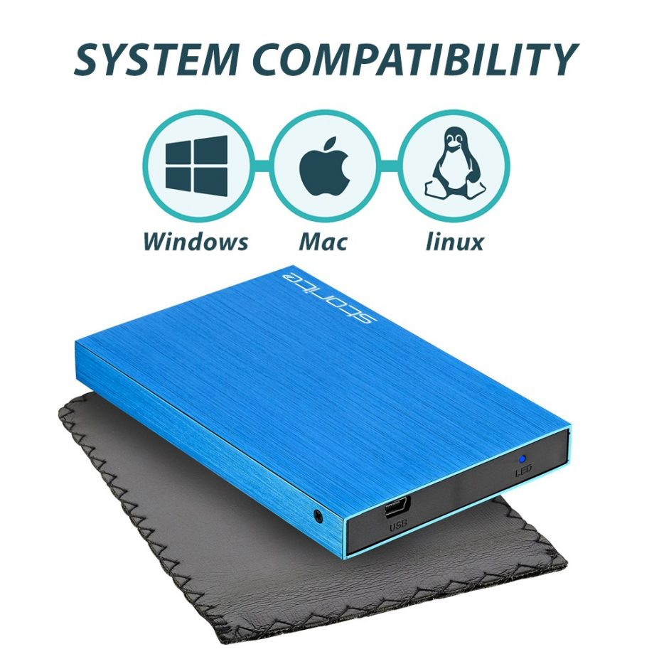 Blue- Portable Hard Drive – 320GB 02