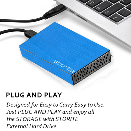 External Hard Drive, 2.5″ 2.0 USB (BLUE) 03