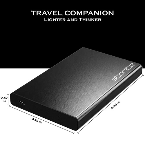External Hard Drive, Portable Hard Drive to Type-C and USB 3.1 (Black) 06