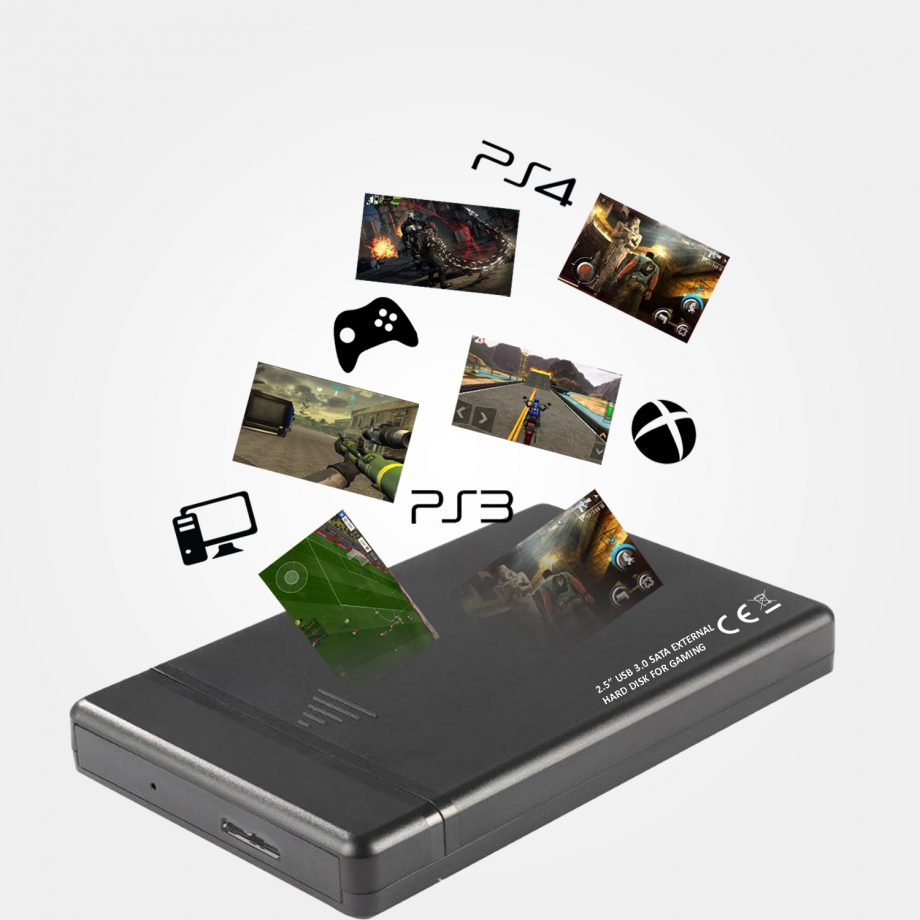 External Hard Drive for Gaming – XBOX, PS3 , PS4 , Laptop Games, PC Games 02