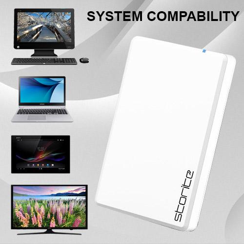 Portable External Hard Drive 2.0 USB (WHITE) 02