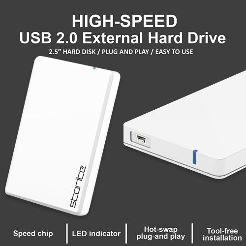 Portable External Hard Drive 2.0 USB (WHITE) 07