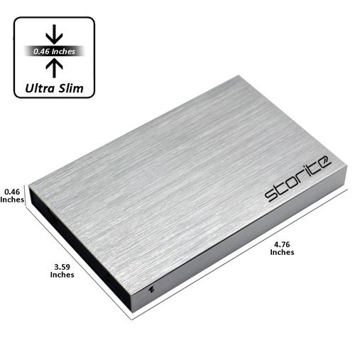 Portable External Hard Drive, 2.5″ 2.0 USB (Silver) 02