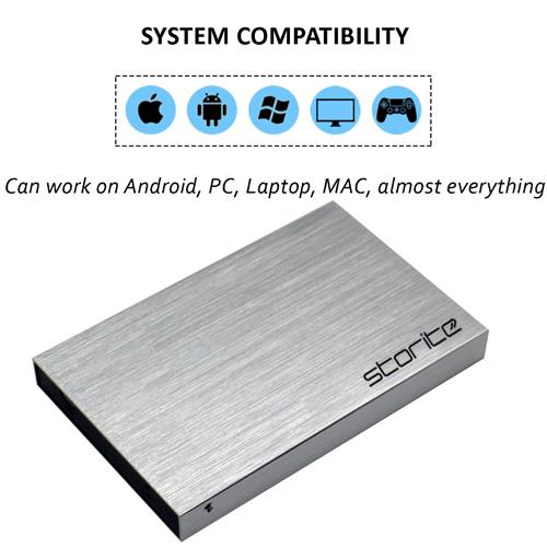 Portable External Hard Drive, 2.5″ 2.0 USB (Silver) 06