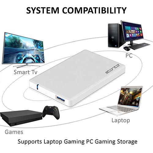Portable Gaming Hard Drive – USB 3.0 (White) 04