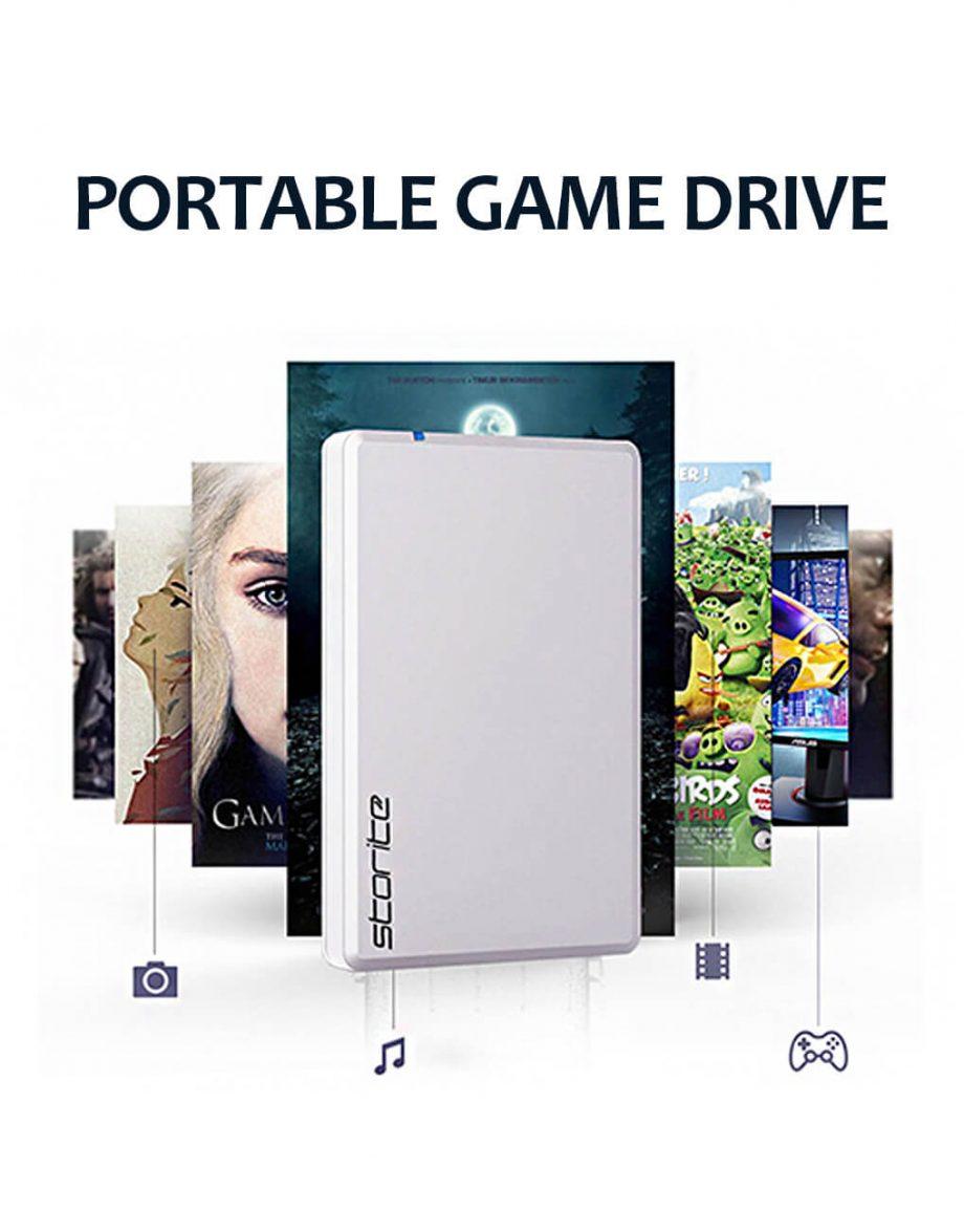 Portable-Gaming-Hard-Drive-–-USB-3.0-White Hard Drive For Gaming