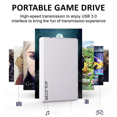 Portable Gaming Hard Drive – USB 3.0 (White)