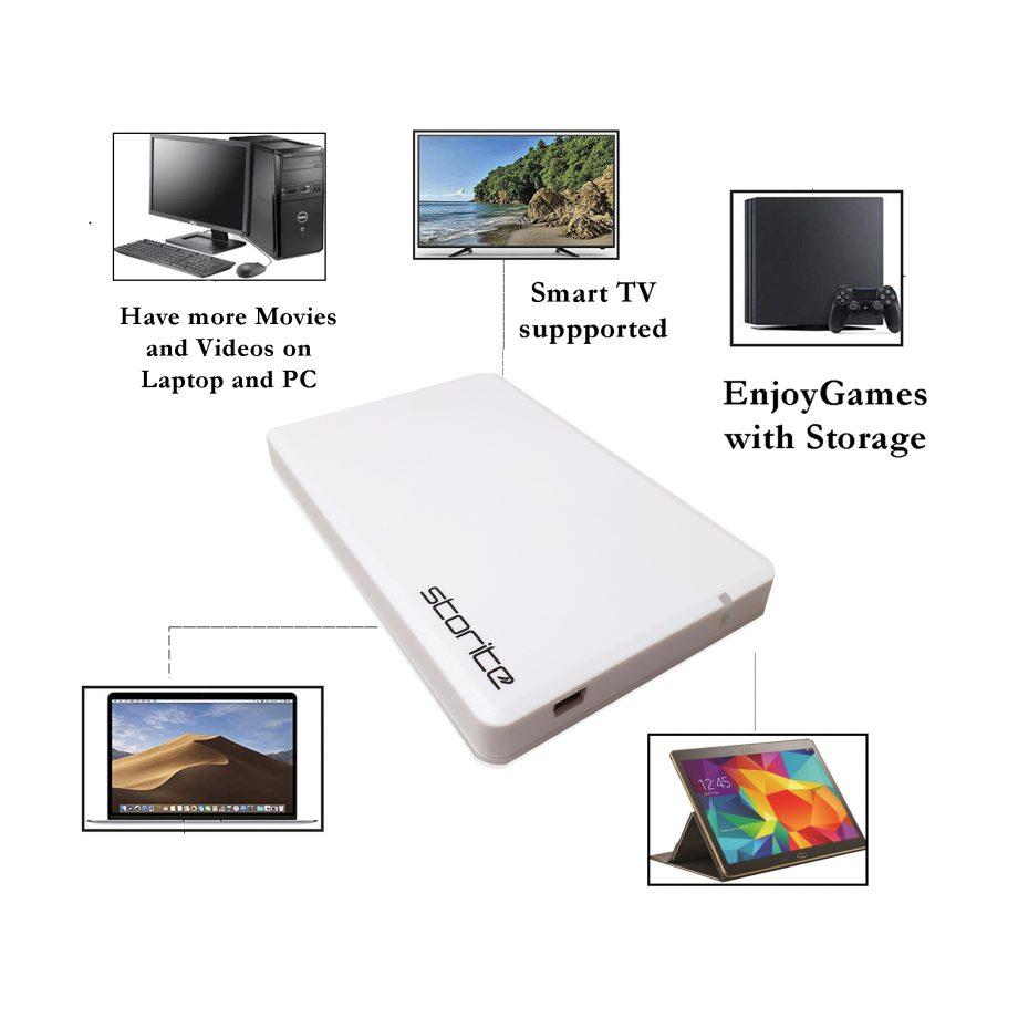 Portable Hard Drive – 500GB (White) 03