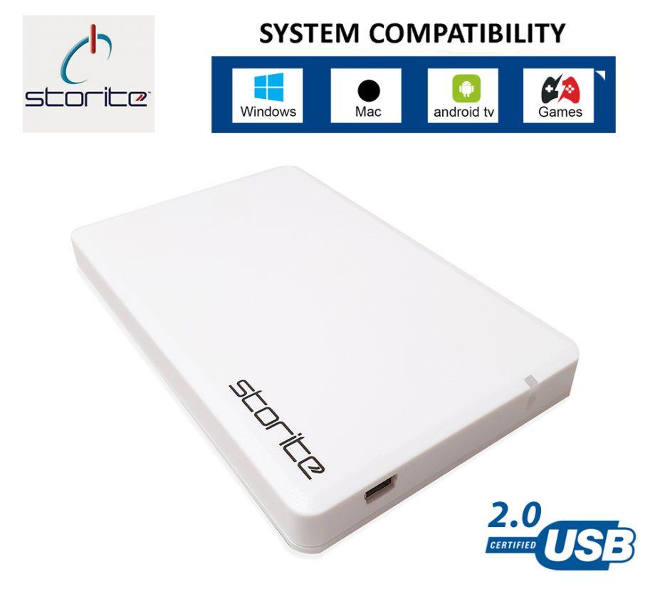 Portable Hard Drive – 500GB (White)