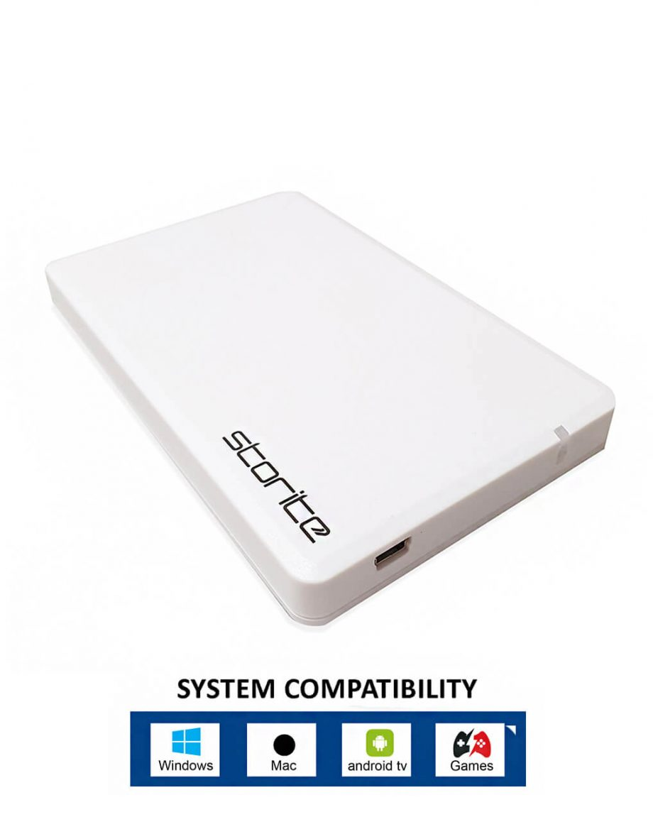 Portable-Hard-Drive-–-500GB-White In Color Hard Drive 500 GB
