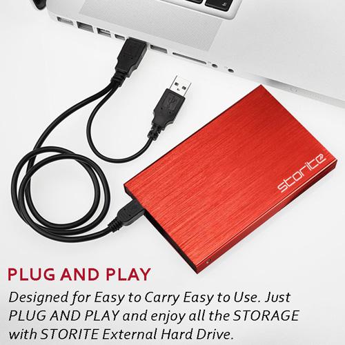Portable Hard Drive, 2.0 USB (RED) 02