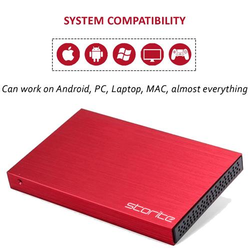 Portable Hard Drive, 2.0 USB (RED) 03