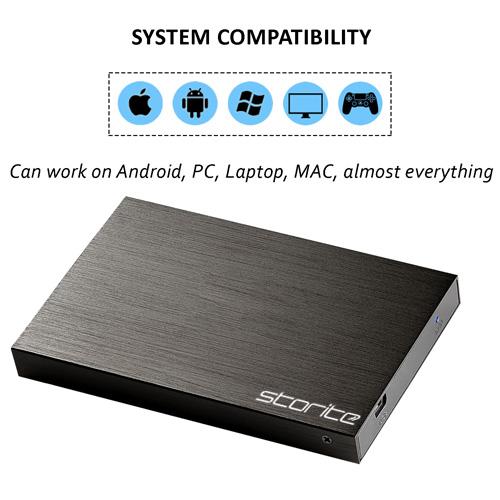 Storite Portable Hard Drive, 2.0 USB (Black) 03