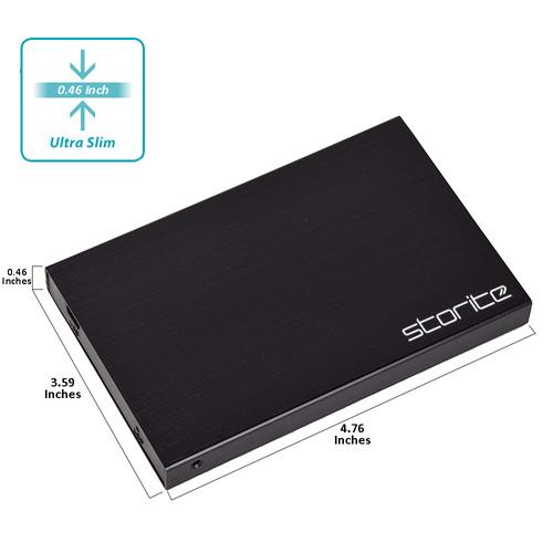 Storite Portable Hard Drive, 2.0 USB (Black) 04