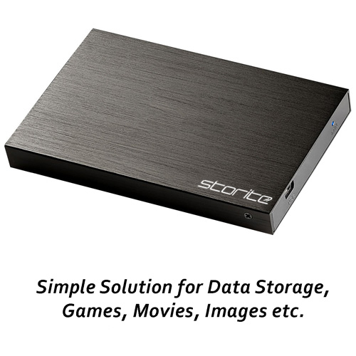 Storite Portable Hard Drive, 2.0 USB (Black) 06
